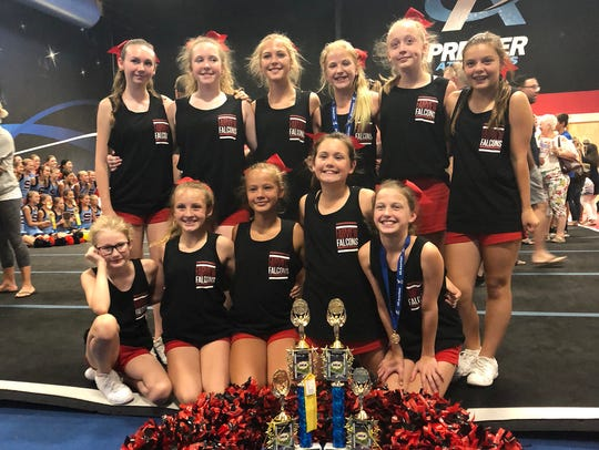 Fairview Middle School's 2018-2019 Falcon Cheerleading