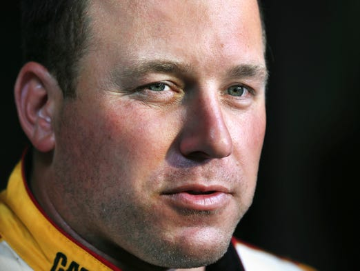 NASCAR driver Ryan Newman talks with the media after Goodyear Tire hosted a private NASCAR Sprint Cup Test at the Indianapolis Motor Speedway on Tuesday, June 17, 2014.