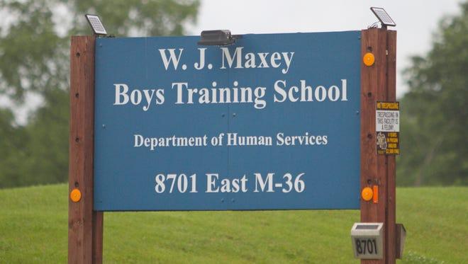 The W.J. Maxey Boys Training School on M-36 in Green Oak Township.