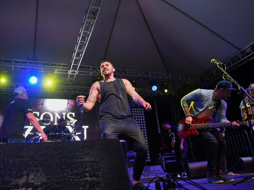 The Sons of Zion take the stage during Trench Fest