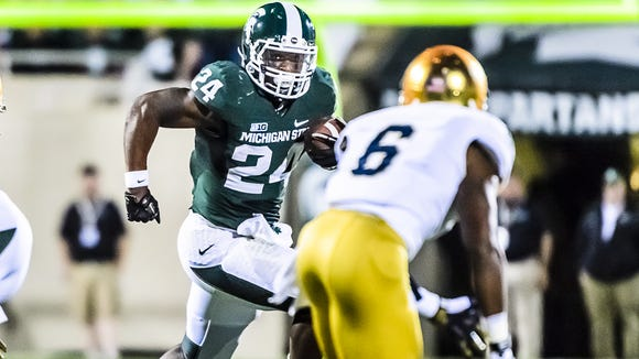 Le'Veon Bell's 1,793 yards rushing in 2012 are the second-most in a season in MSU history behind only Lorenzo White's 2,000-yard season in 1985.