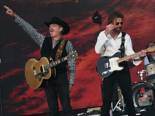 Kix Brooks and Ronnie Dunn of Brooks and Dunn perform in June during the 2016 Windy City LakeShake Country Music Festival at Northerly Island  in Chicago.