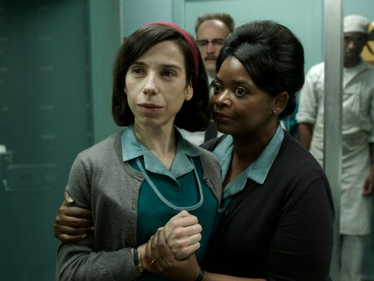 Sally Hawkins, left, and Octavia Spencer in a scene
