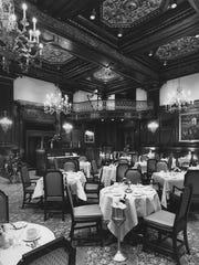 The Hotel du Pont's remodeled Green Room in April 1985.