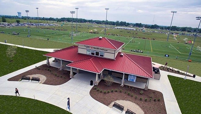 A new fieldhouse will serve the 22 athletic fields at Voice of America  Park in West Chester Township. A grand opening is set for 3-5 p.m.,  Friday, at the park, located off Cox Road in West Chester Township.