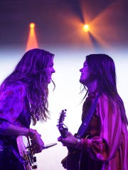 First Aid Kit's Johanna and Klara Söderberg sing at