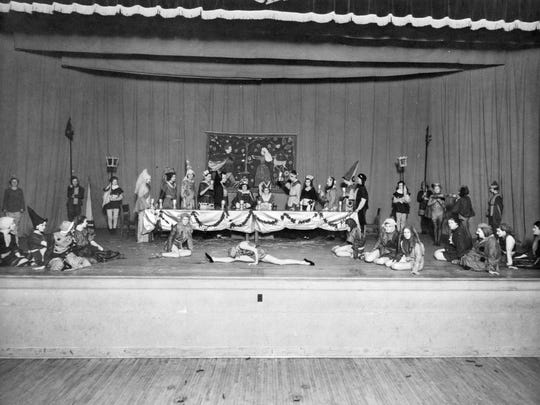 Students at Central Junior High School perform a play in 1940 on a stage at the north side of the school on the first floor. The building has since been remodeled and is now St. Cloud City Hall.