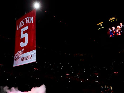 The Detroit Red Wings honored defenseman Nicklas Lidstrom by retiring his No. 5 jersey on March 6. A look at the night and his career: