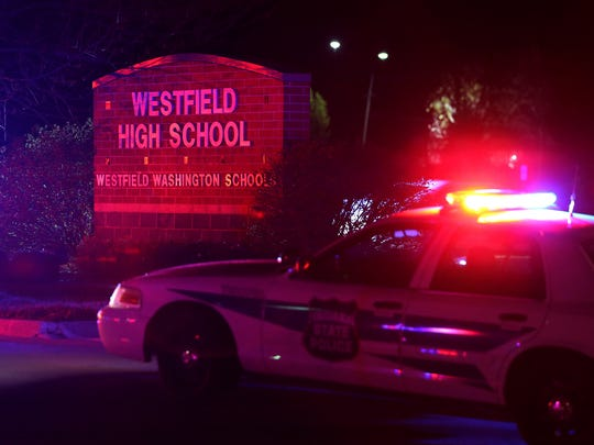 Police are on the scene at Westfield High School after