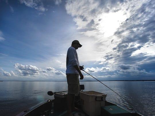 Angler on Mille Lacs Lake.