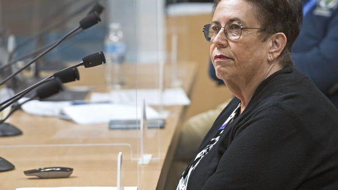 Palm Beach County Health Director Dr. Alina Alonso speaks with commissioners at the Palm Beach County Commission meeting Tuesday, June 23, 2020 where they unanimously voted to require people to wear masks in public.