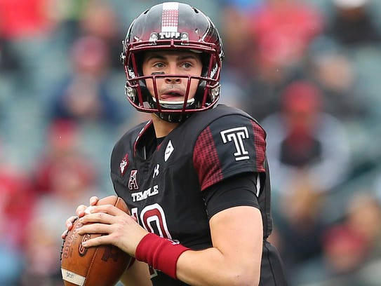 Temple's Frank Nutile put on a strong effort late in