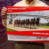 Port Huron featured on Budweiser Clydesdales calendar