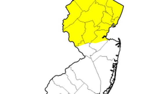 The yellow area is abnormally dry