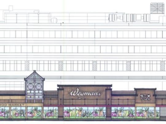 A rendering of Wegmans' latest store, in Massachusetts.
