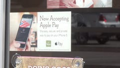 Apple Pay sign at Panera Bread