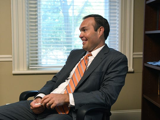 Interview with James Hurley on Sep. 7, 2017, incoming president of Tusculum University, which is trying to replicate the success of LMU in recent years. Administrators at Tusculum are hoping that hiring Hurley, who was VP for enrollment at LMU, can help with that effort.
