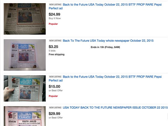 Once newspapers sold out, fans flocked to Ebay for