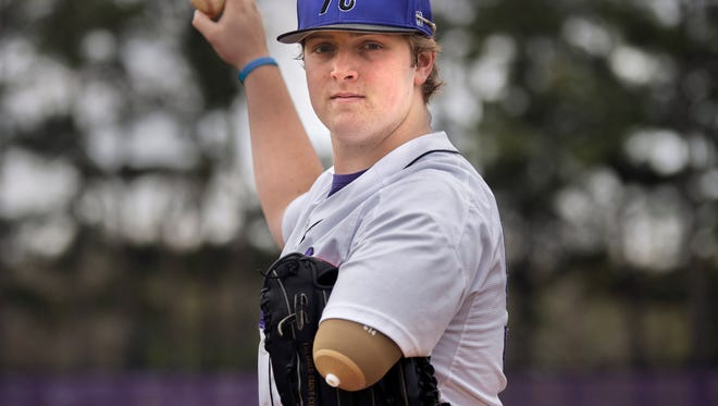 Haywood pitcher Landon Wilson had part of his left arm amputated after being struck by a car.