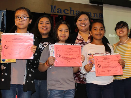 In support of the Positive Behavior Interventions and Supports program, Sylvan donated over 1,000 books to Guam's public elementary schools to promote literacy during January and February 2017. Pictured: Cielito Rivera (5th Grade teacher), Franchesca Page, Elena Villagomez (Substitute), Rossell Bayalan, Irene Poblete (5th Grade Teacher), A-reen Nameta, Rhia Jimenez (5th Grade Teacher). Crystal Nelson (Sylvan Learning Center).