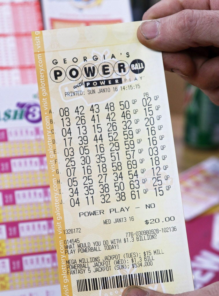 Powerball winning numbers today nj