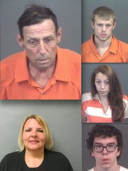 Clockwise from left: Ronald Harvey, Joseph Muir-Dipietro, Skylar Bailey and Brett Gronda and Christina Heikkinen. The latter photo is from the Michigan Department of Corrections.
