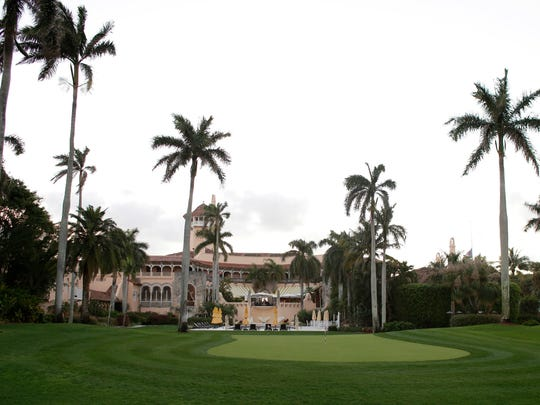 The Mar-A-Lago Club, owned by Republican presidential candidate Donald Trump, in Palm Beach.