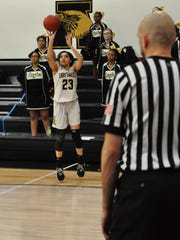 Abilene High's Destiny Gallentine shoots an open 3-pointer during the Lady Eagles' 37-35 loss to Weatherford on Friday at Eagle Gym.