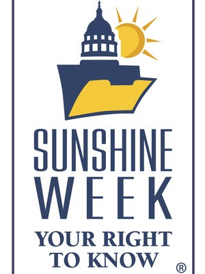 Logo for Sunshine Week, a week dedicated to open government and freedom of information.