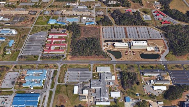Google Earth satellite image of Redstone Arsenal in Huntsville, Ala.