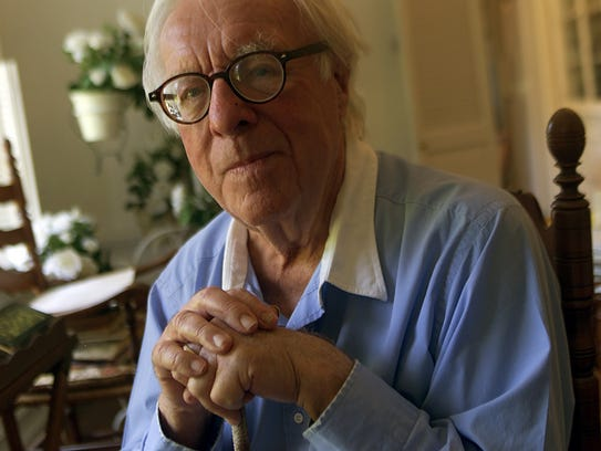 Author Ray Bradbury poses for a photo in Los Angeles