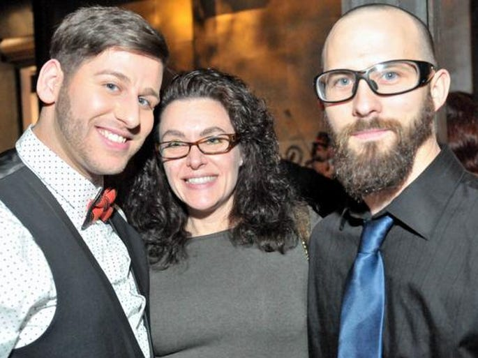 Barry Miller, of New Castle; Lisa Edwards, of Bear; and Chris Motto, of Pottsville, Pa., at the AIDS Delaware Imagine party at the Delaware Center for the Contemporary Arts in Wilmington Saturday.