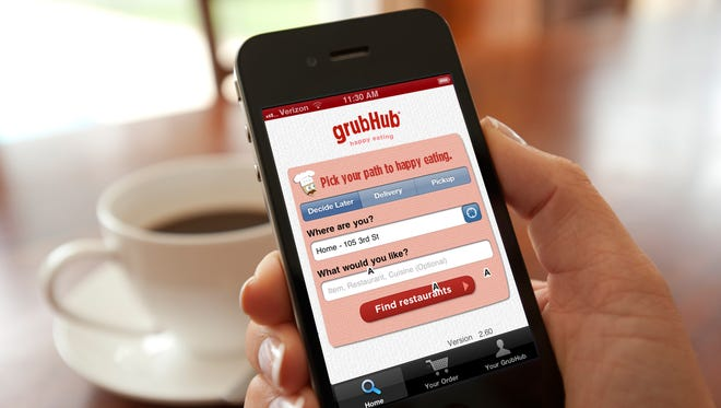 GrubHub provides online ways for consumes to order food from restaurants.