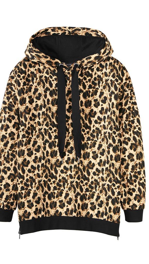 Pullover hoodie in leopard print from Esmara by Heidi