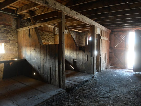 Although the building is structurally sound, the interior of the J.C. Adams stone barn needs some TLC before it is fit for public use.