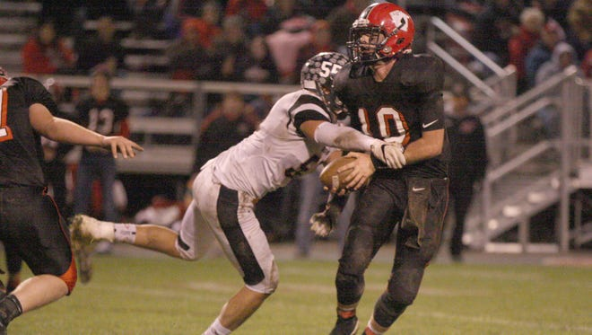 Gibsonburg's Joey Adkins was first-team all-TAAC on both sides of the ball.