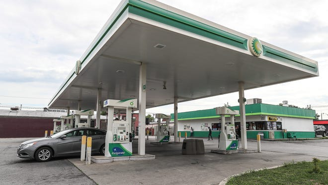 The BP at 601 East Broadway.