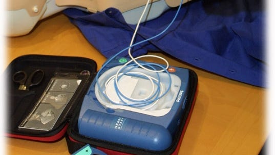 Automated external defibrillator made especially for the home.