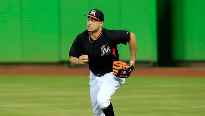 Giancarlo Stanton was hitting .265 with 27 homers before the season-ending injury.