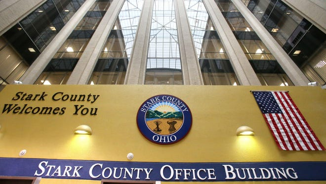 The Stark County Office Building in Canton on March 31, a couple of weeks into the pandemic. The Stark County Office Building is set to get a new bipolar ionization air purifying system that its manufacturer says renders many pathogens and viruses harmless. (CantonRep.com file photo)