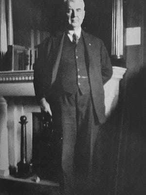 Congressman H.P. Snyder is pictured here at his Capitol office in Washington. Snyder served as chairman of the Indian Affairs Committee that generated the Indian Citizen Act of 1924 (A.K.A. the Snyder Act).