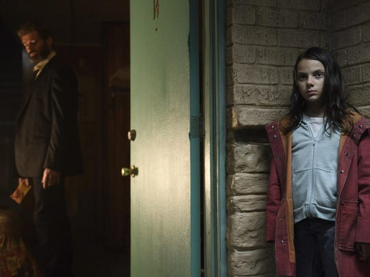 Dafne Keen portrays a mutant child who has killer claws
