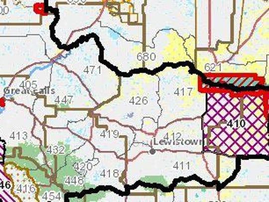 Hunting District 426 is northwest of Lewistown. The elk population is around 300.