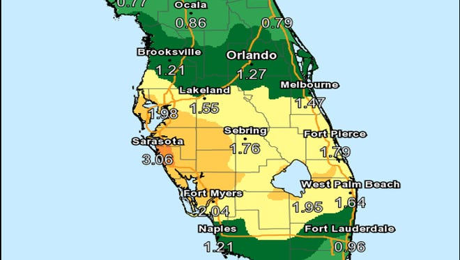 Rain is expected across Florida July 24, 2018.