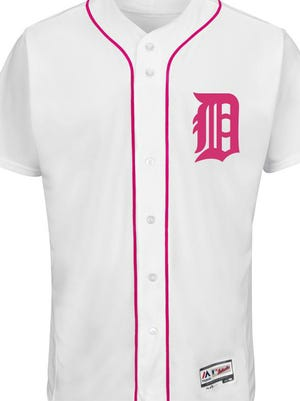 The Tigers' jersey for Mother's Day on May 8.