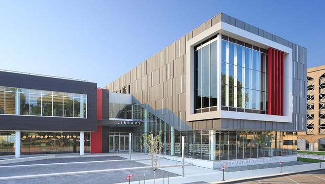 The Cedar Rapids Public Library was rebuilt after the floods of 2008 with an emphasis on congregation.
