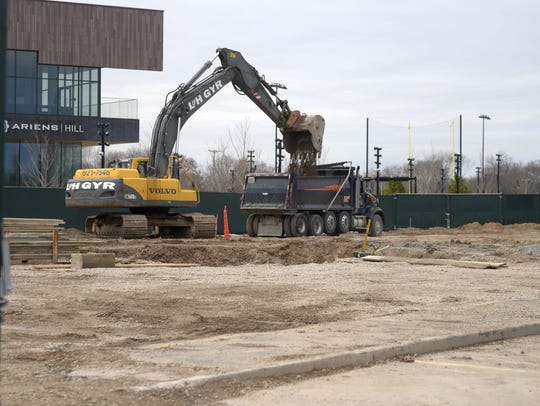 Excavation is under way on the TitletownTech building