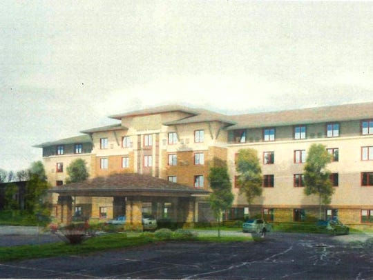 A conceptual sketch of a 96-room hotel proposed for