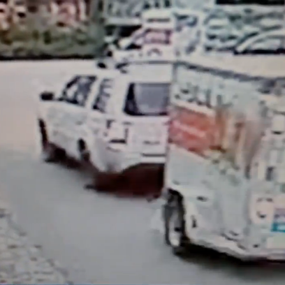 A car, seen in this image from a video surveillance
