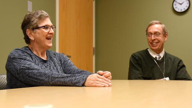 Debbie Tubbs and Dr. David Kroska talk about the L.I.F.E. program Wednesday, Dec. 9 at the CentraCare Health Plaza.